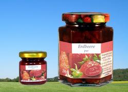 Bild zu: Erdbeere mit Fruchtstücken