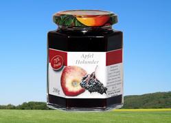 Bild zu: Apfel mit Holunderbeere